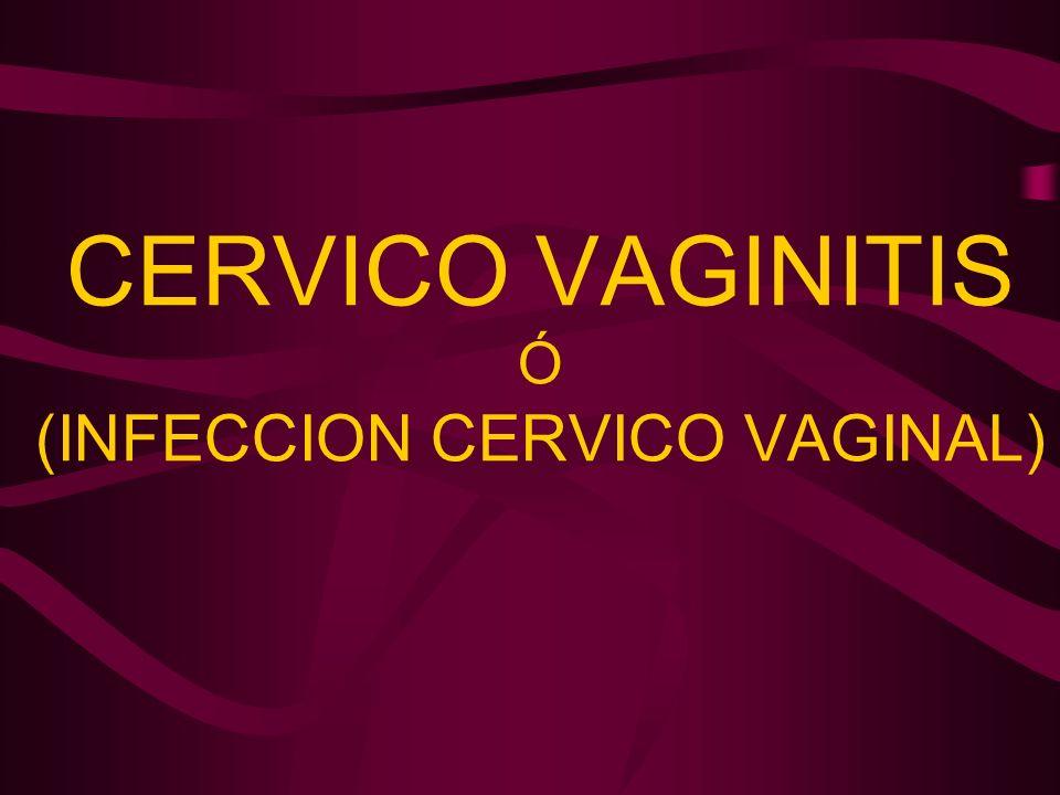 CERVICO VAGINITIS Ó (INFECCION CERVICO VAGINAL)