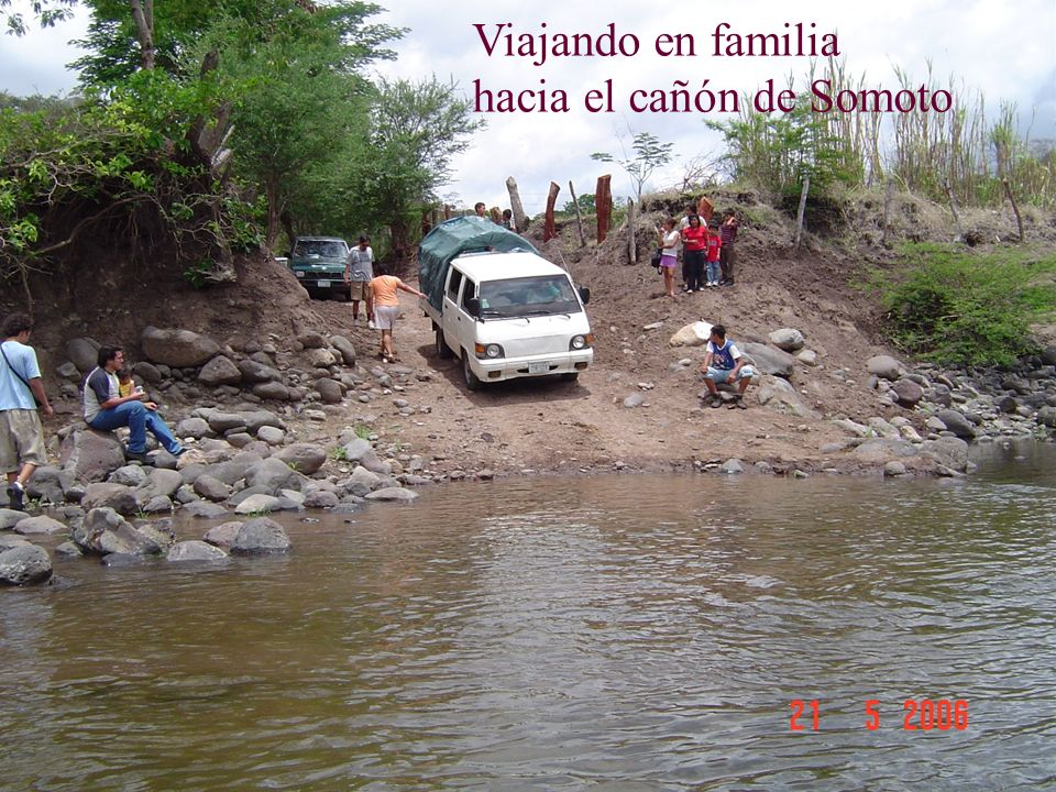 Viajando en familia hacia el cañón de Somoto