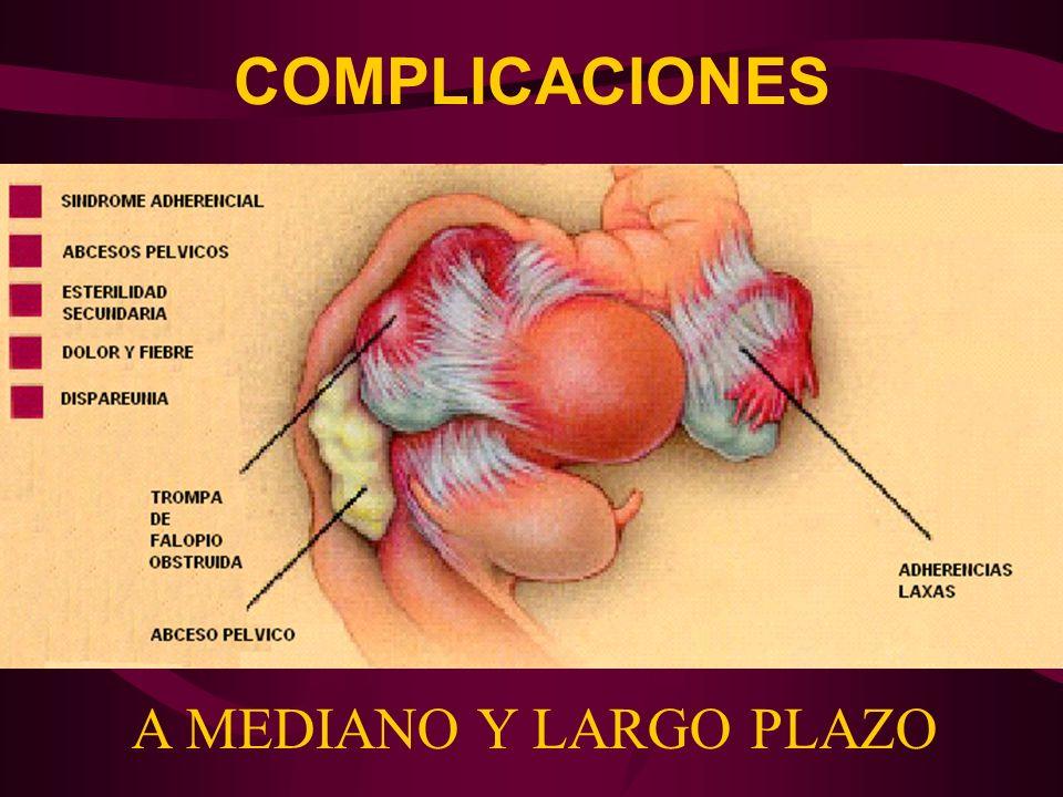 COMPLICACIONES A MEDIANO Y LARGO PLAZO
