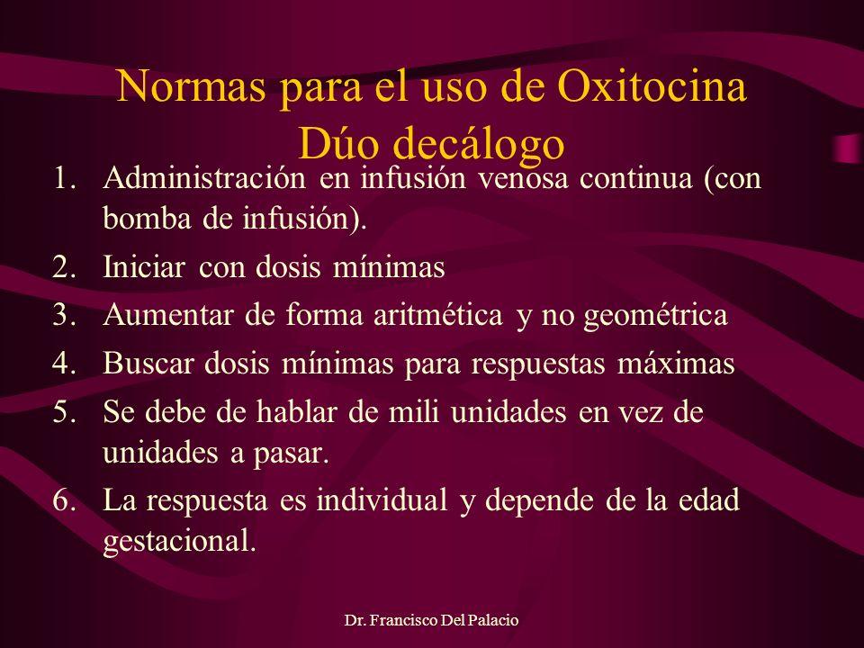 Normas para el uso de Oxitocina Dúo decálogo