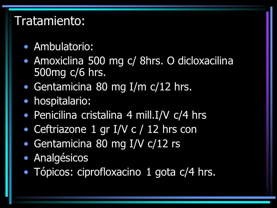 Tratamiento: Ambulatorio: