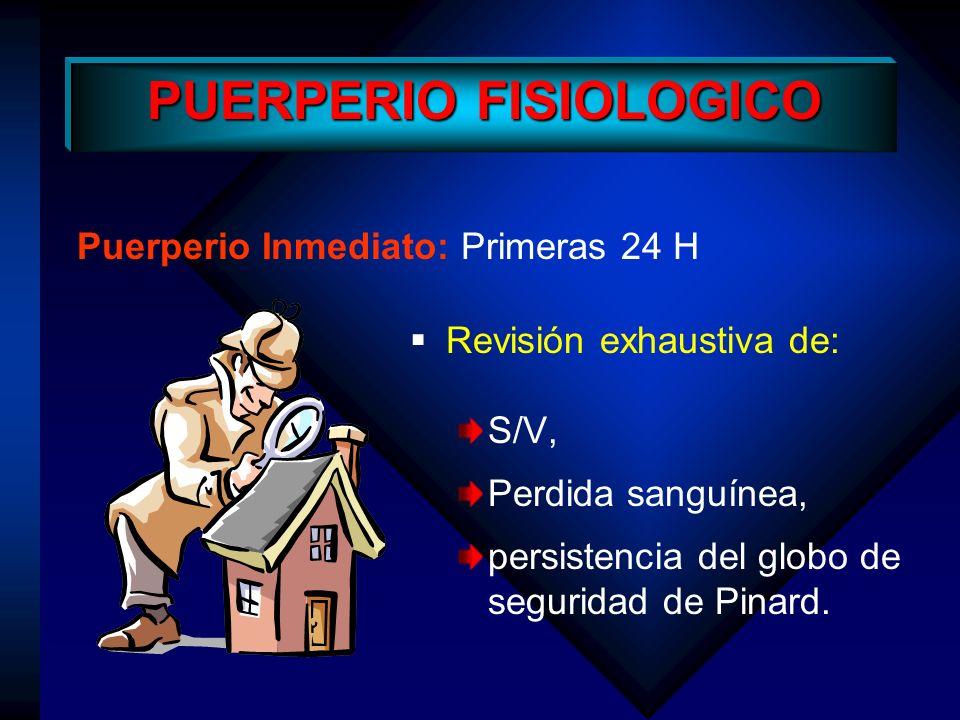 PUERPERIO FISIOLOGICO
