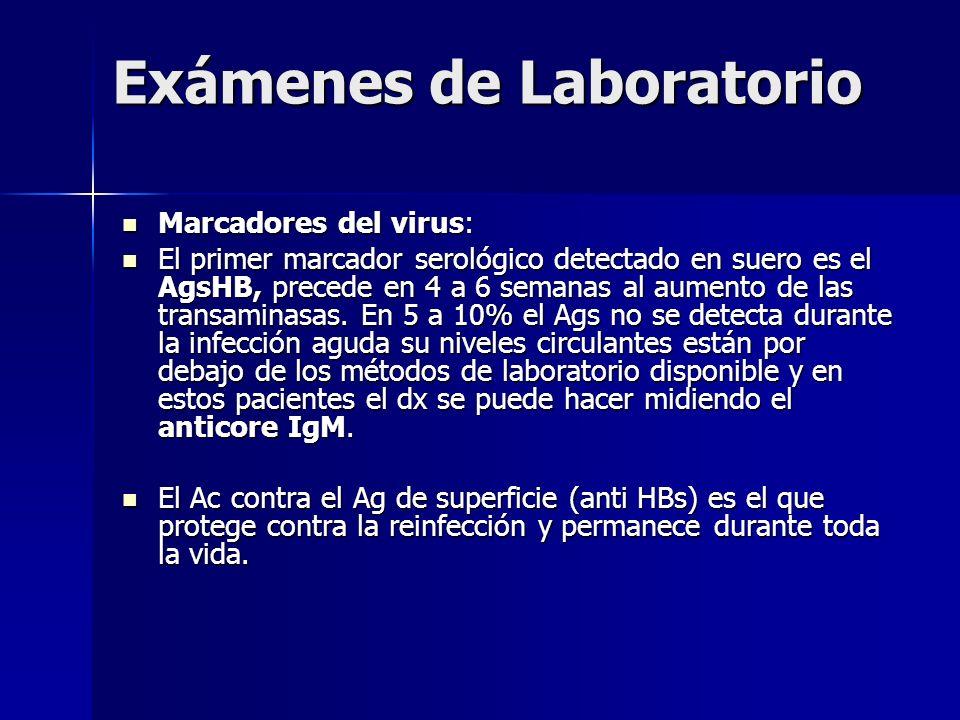 Exámenes de Laboratorio