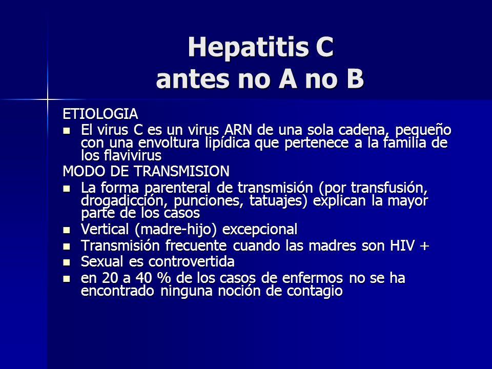 Hepatitis C antes no A no B