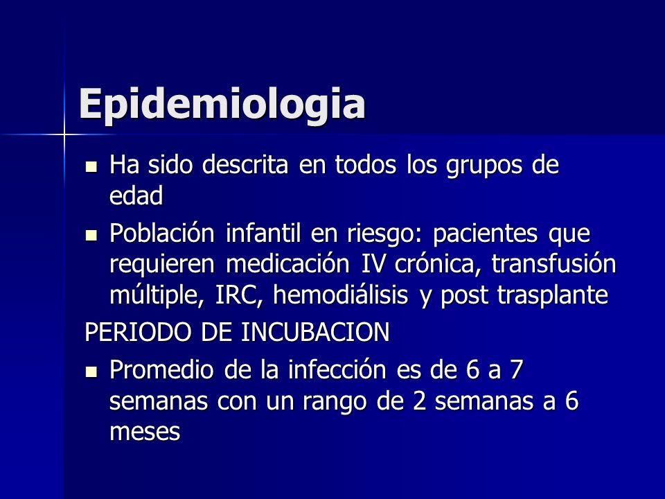 Epidemiologia Ha sido descrita en todos los grupos de edad
