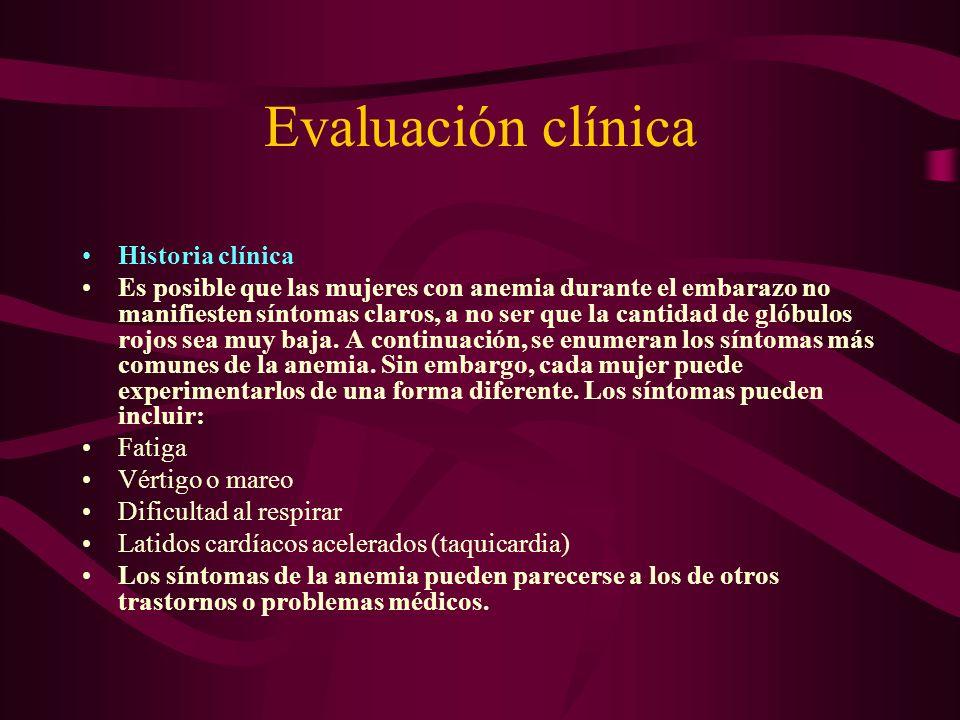 Evaluación clínica Historia clínica
