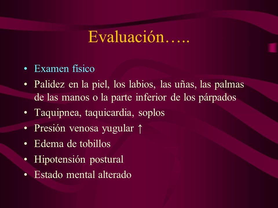 Evaluación….. Examen físico