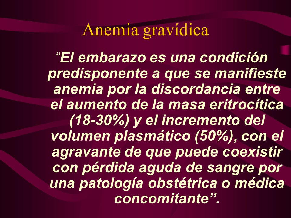 Anemia gravídica