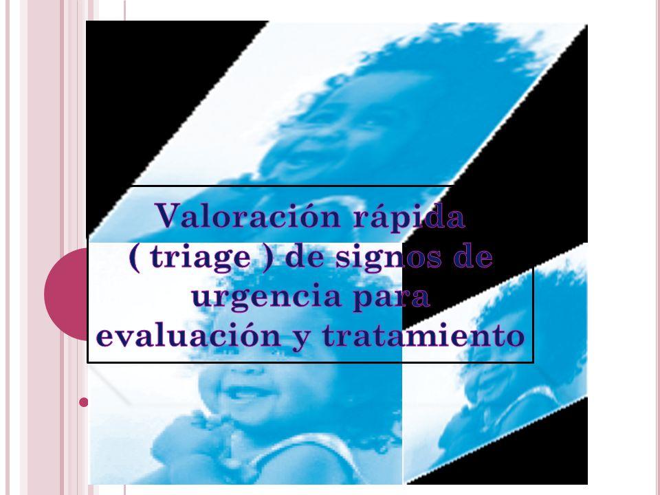 Valoración rápida ( triage ) de signos de urgencia para evaluación y tratamiento