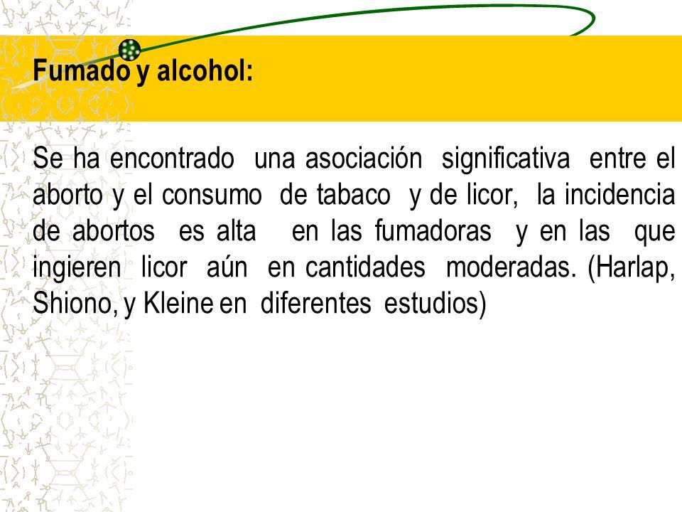 Fumado y alcohol:
