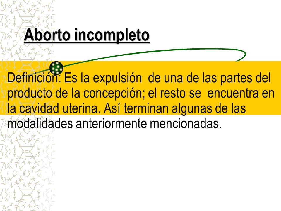 Aborto incompleto