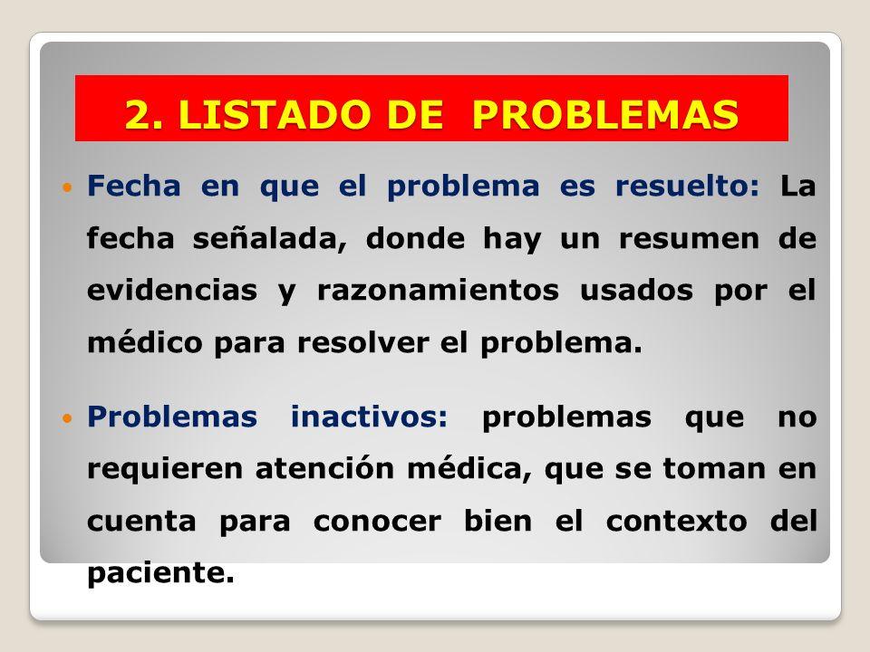 2. LISTADO DE PROBLEMAS
