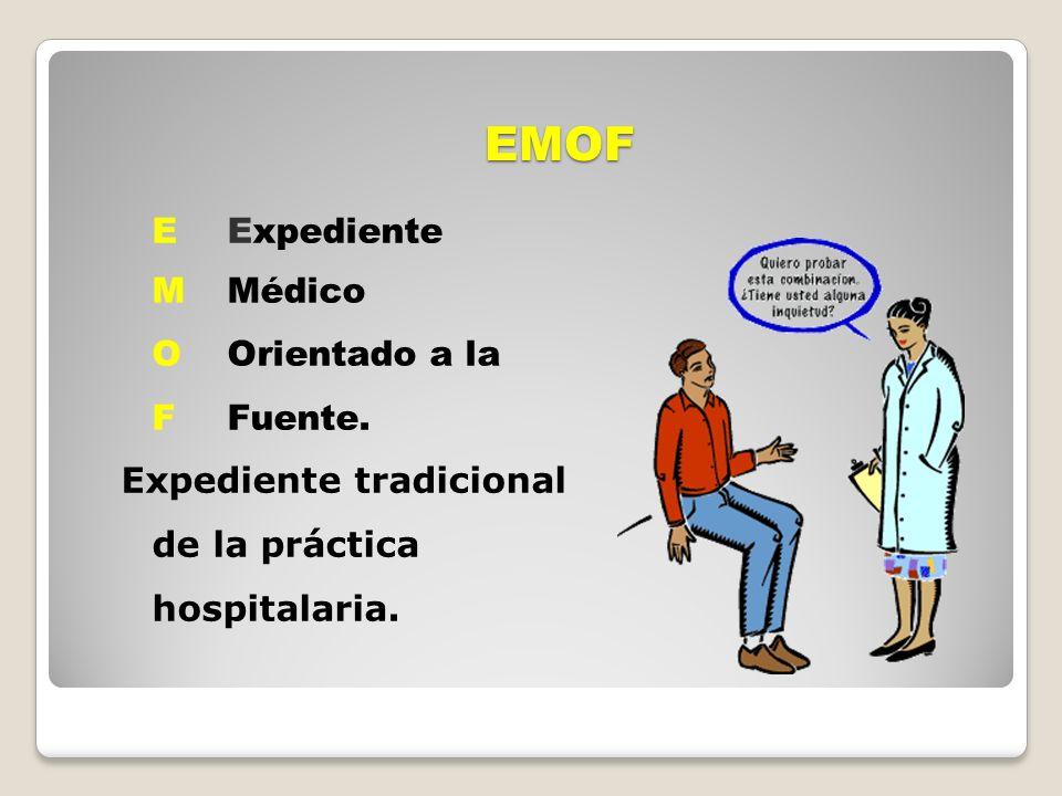 EMOF E Expediente M Médico O Orientado a la F Fuente.
