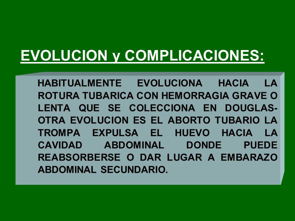EVOLUCION y COMPLICACIONES:
