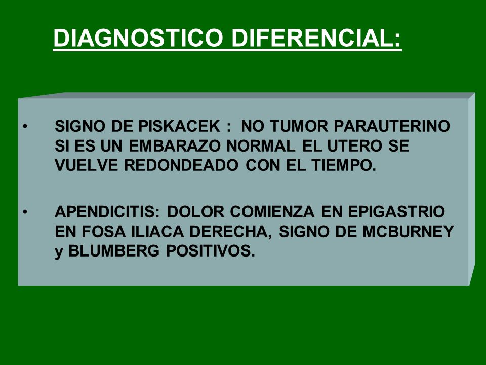 DIAGNOSTICO DIFERENCIAL:
