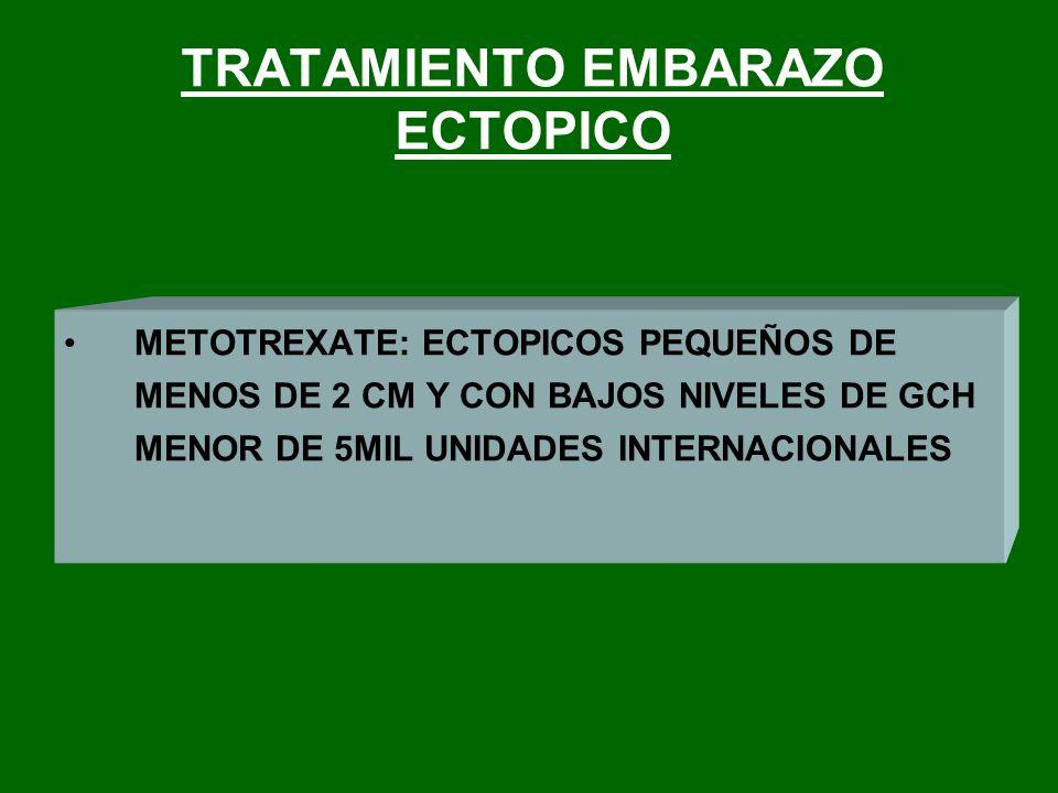 TRATAMIENTO EMBARAZO ECTOPICO