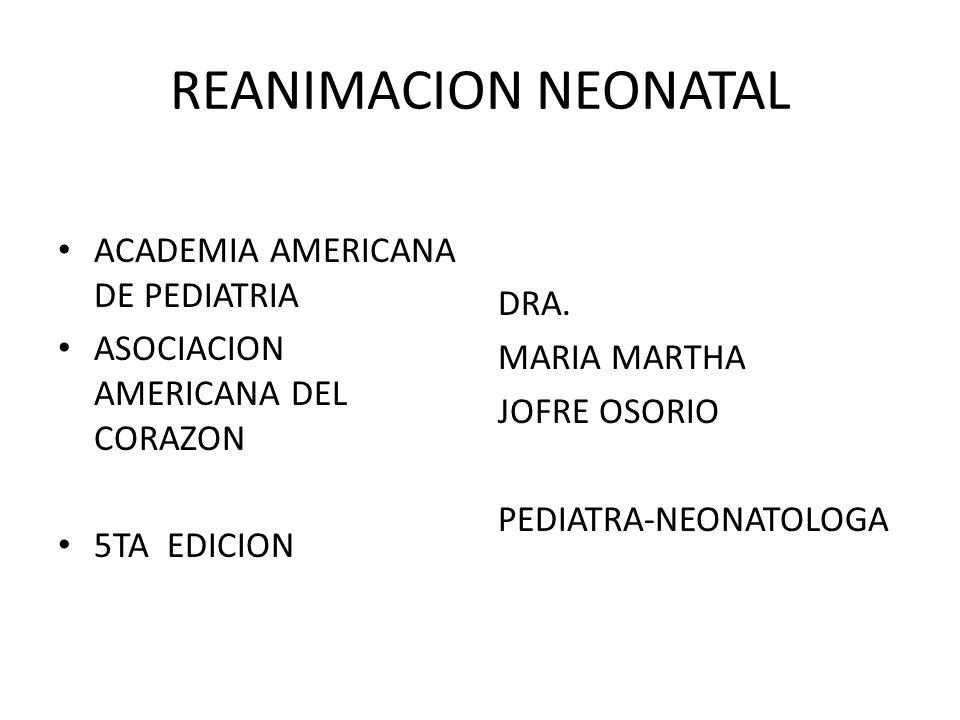 REANIMACION NEONATAL ACADEMIA AMERICANA DE PEDIATRIA