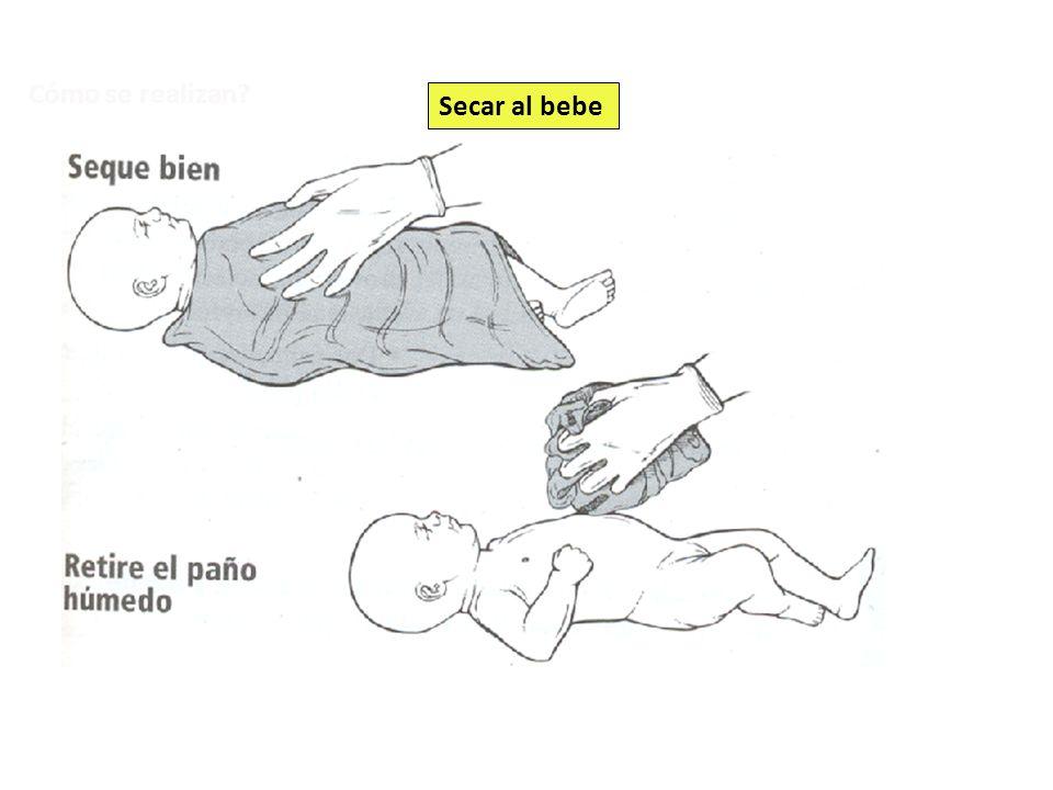 Cómo se realizan Secar al bebe