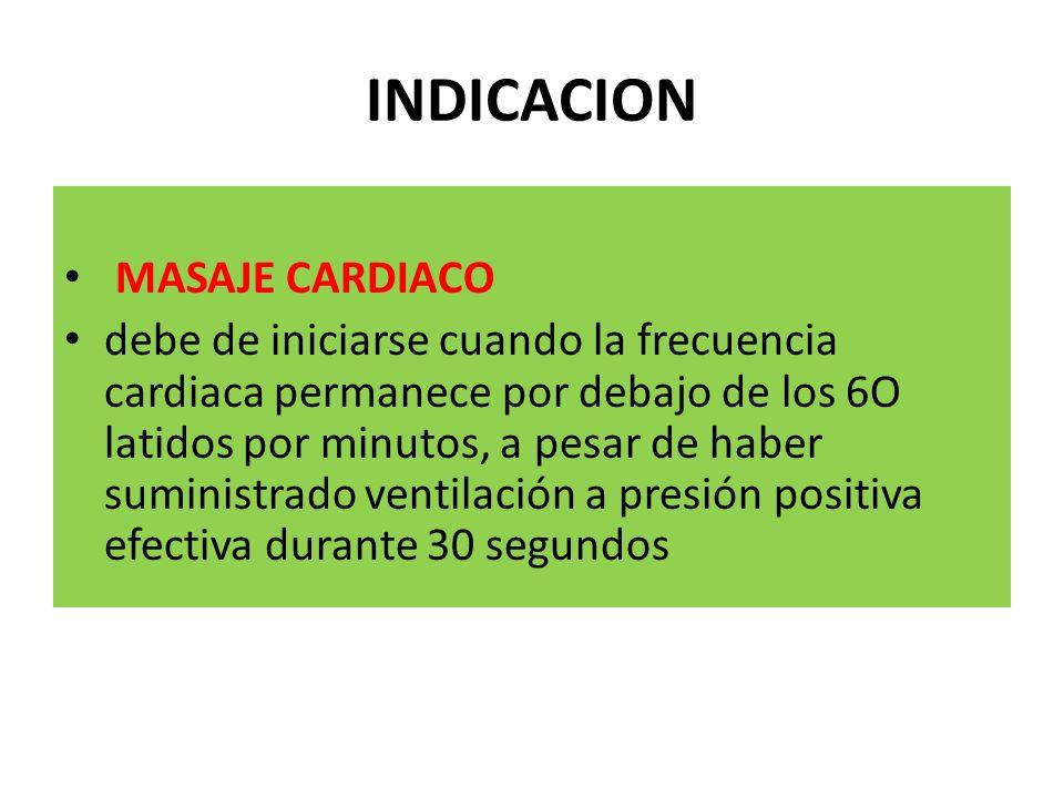 INDICACION MASAJE CARDIACO