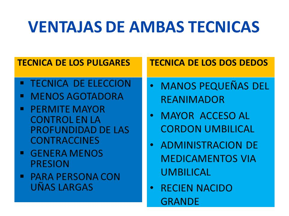 VENTAJAS DE AMBAS TECNICAS