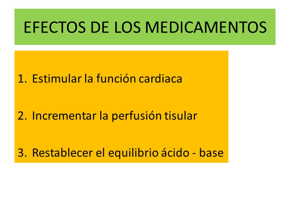 EFECTOS DE LOS MEDICAMENTOS