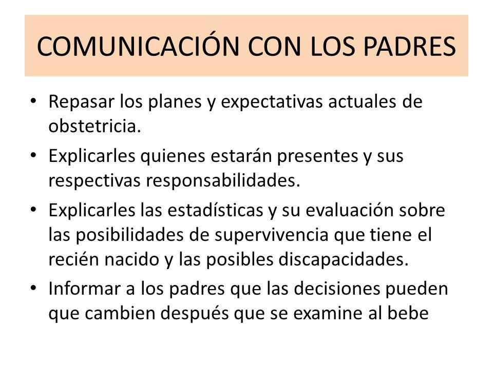 COMUNICACIÓN CON LOS PADRES