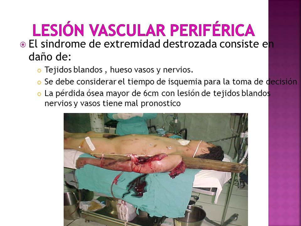 Lesión vascular periférica