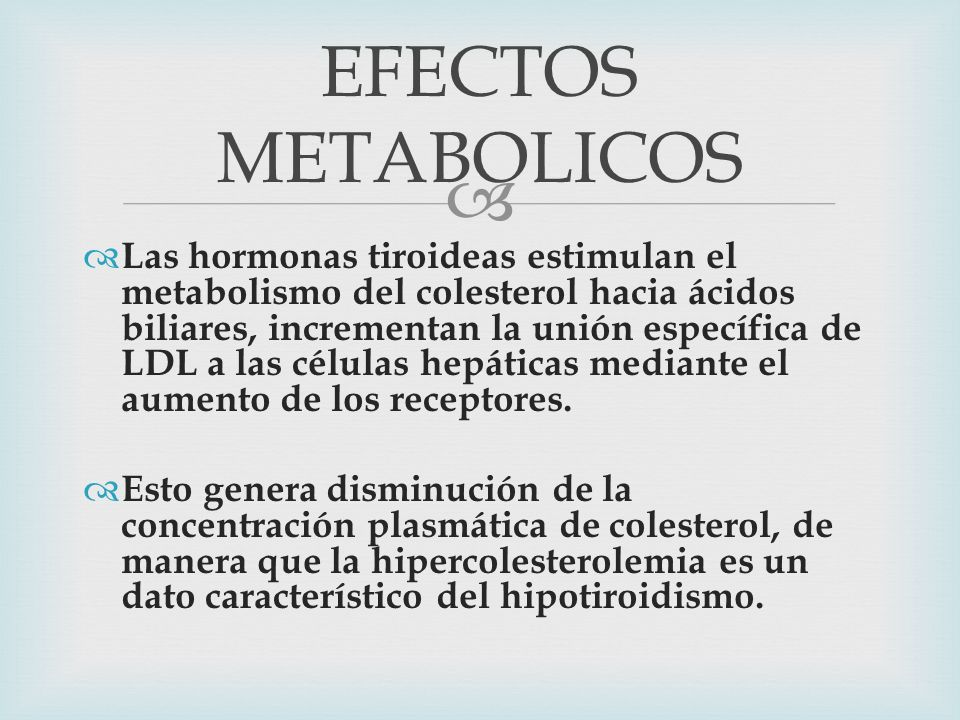 EFECTOS METABOLICOS