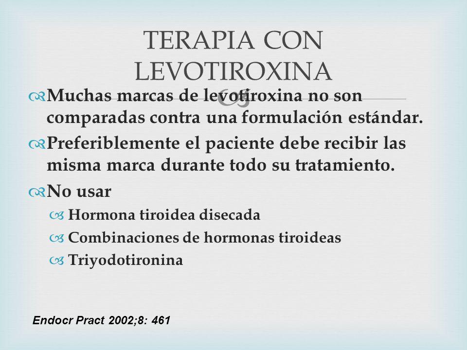 TERAPIA CON LEVOTIROXINA