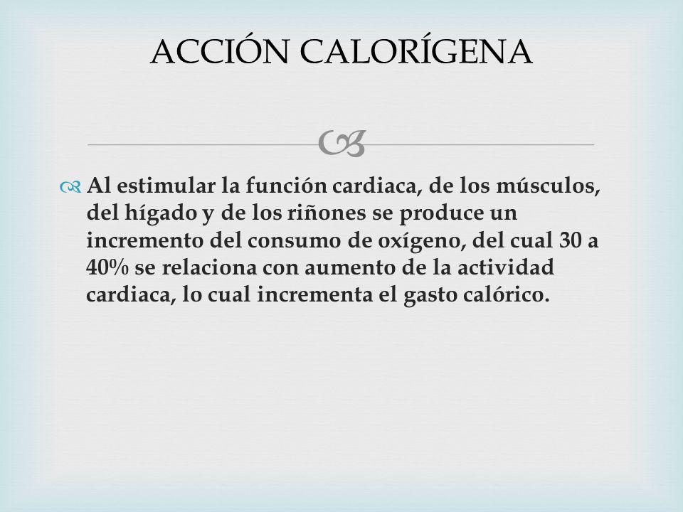 ACCIÓN CALORÍGENA