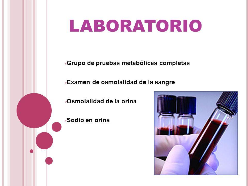 laboratorio Grupo de pruebas metabólicas completas