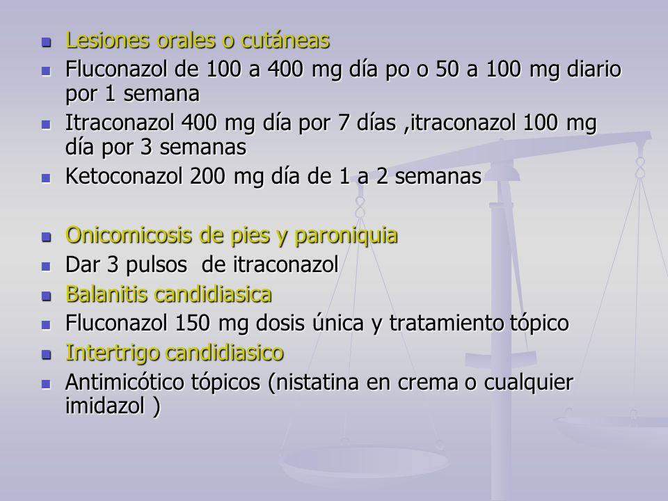 Lesiones orales o cutáneas