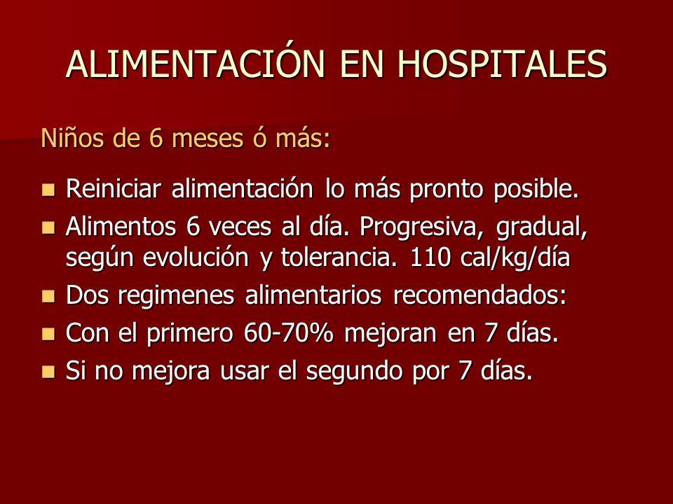 ALIMENTACIÓN EN HOSPITALES