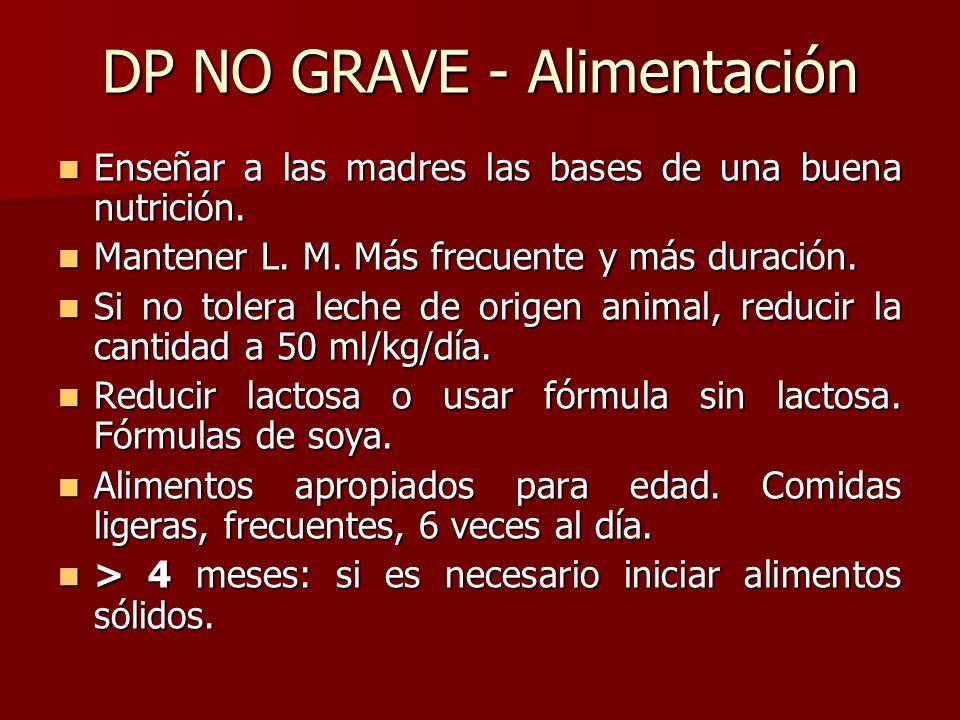 DP NO GRAVE - Alimentación