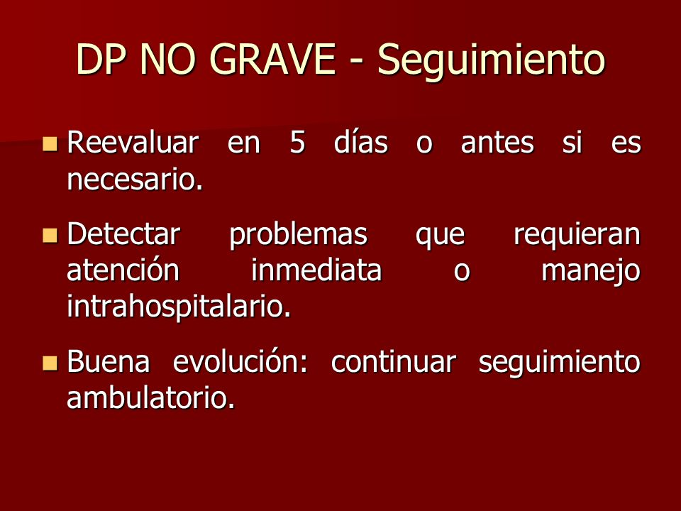 DP NO GRAVE - Seguimiento