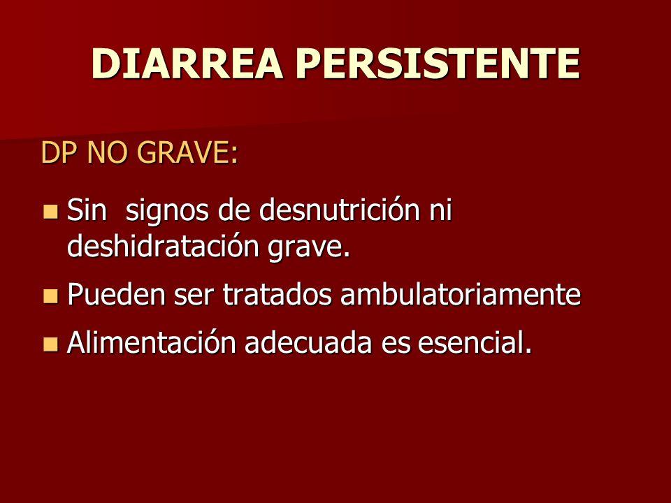 DIARREA PERSISTENTE DP NO GRAVE: