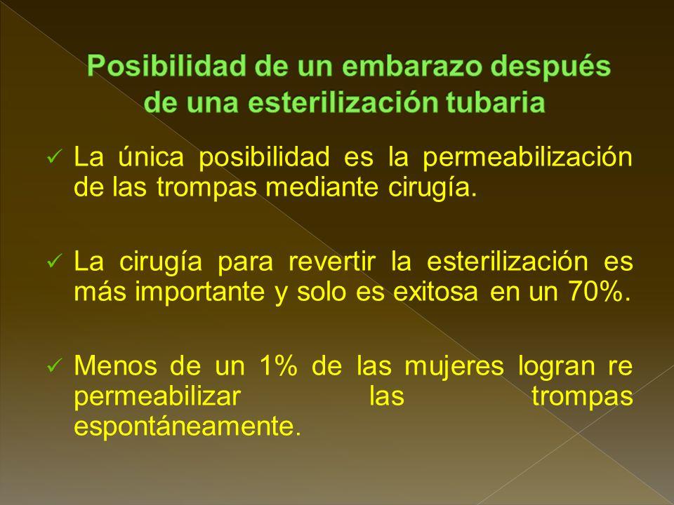 Posibilidad de un embarazo después de una esterilización tubaria