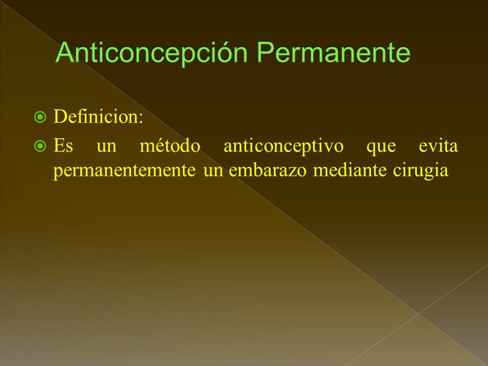 Anticoncepción Permanente