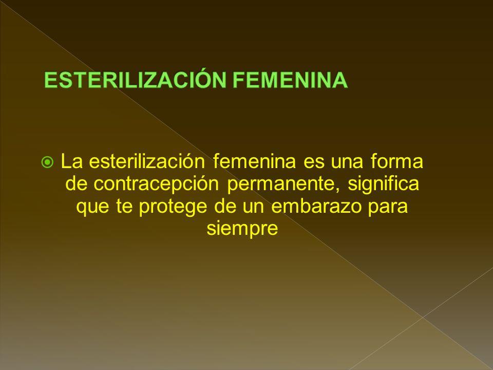 ESTERILIZACIÓN FEMENINA