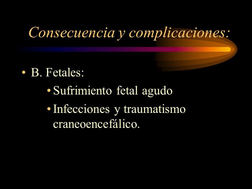 Consecuencia y complicaciones: