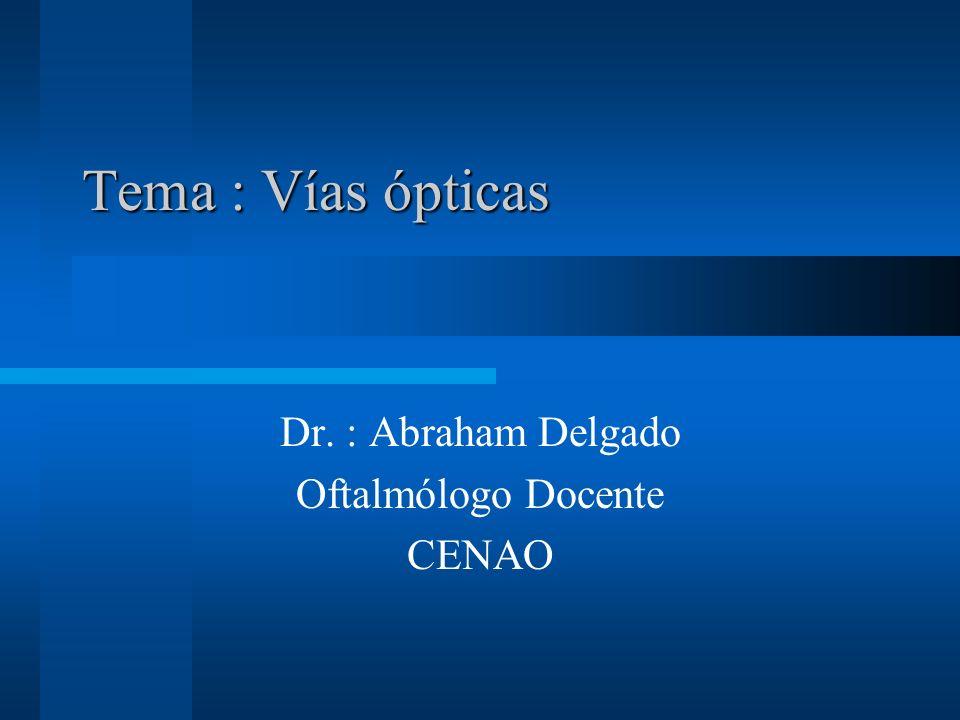 Dr. : Abraham Delgado Oftalmólogo Docente CENAO