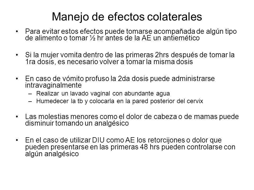 Manejo de efectos colaterales