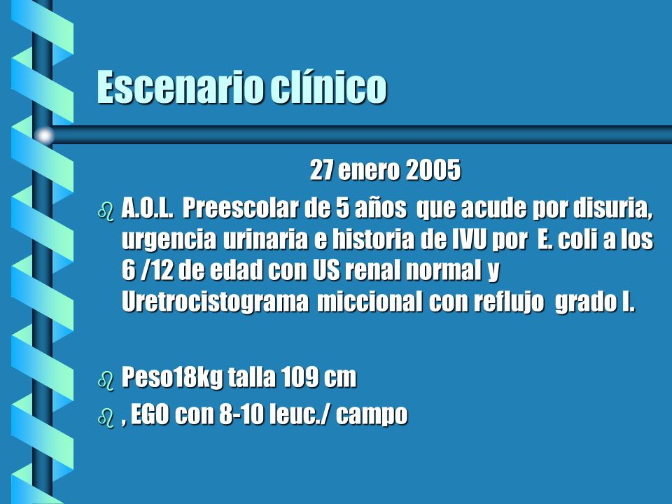 Escenario clínico 27 enero 2005