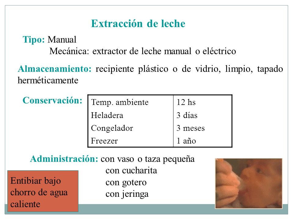 Extracción de leche Tipo: Manual
