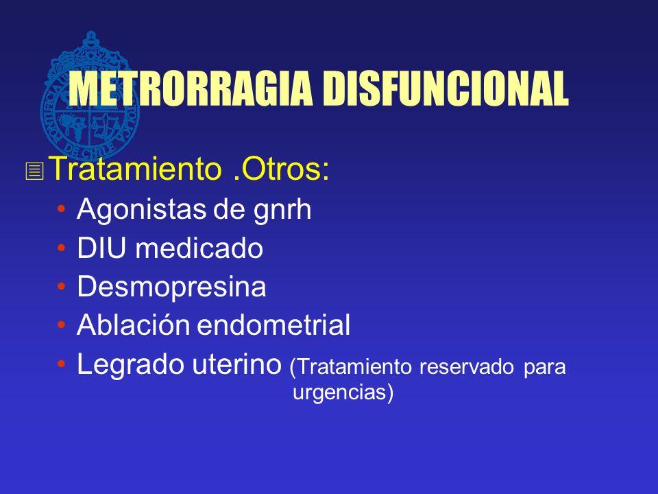 METRORRAGIA DISFUNCIONAL