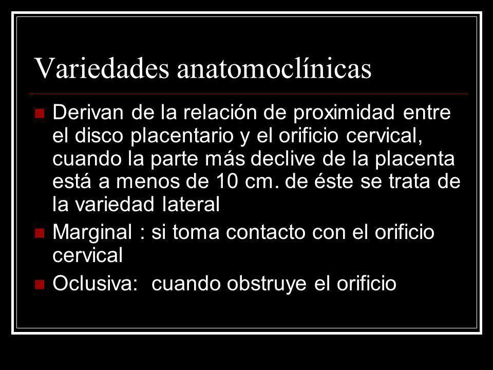 Variedades anatomoclínicas