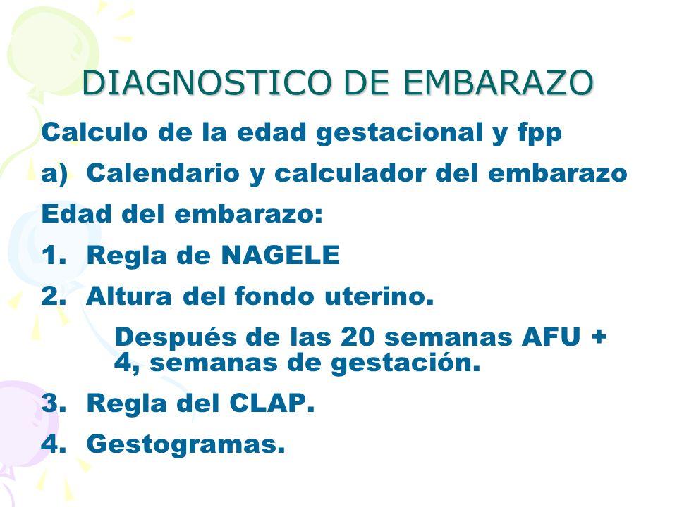 DIAGNOSTICO DE EMBARAZO
