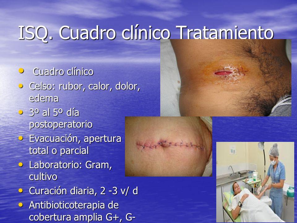 ISQ. Cuadro clínico Tratamiento