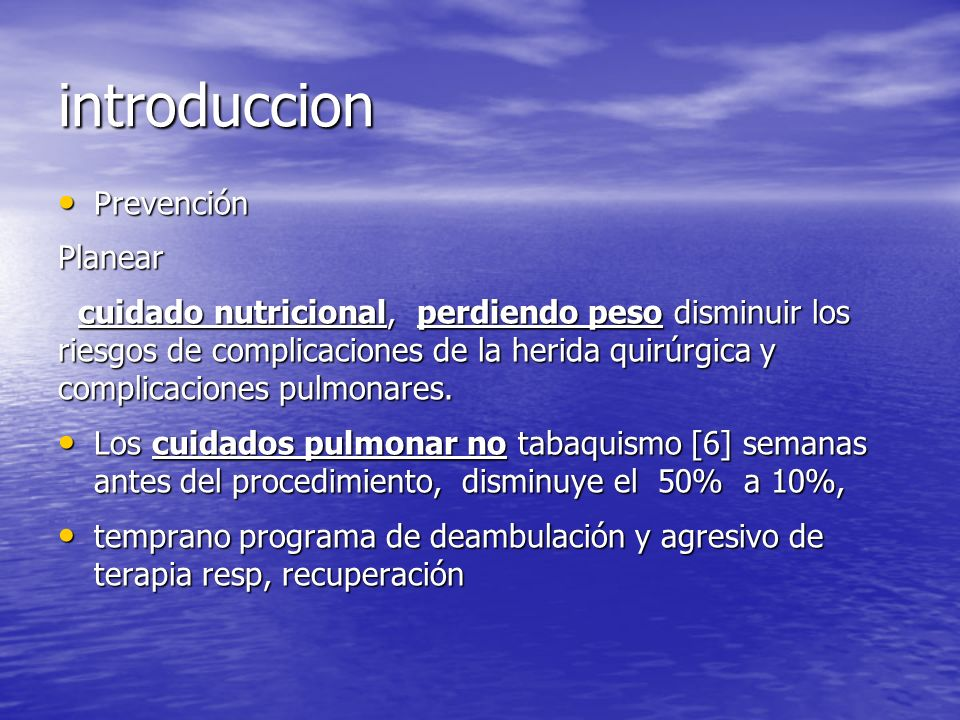 introduccion Prevención Planear