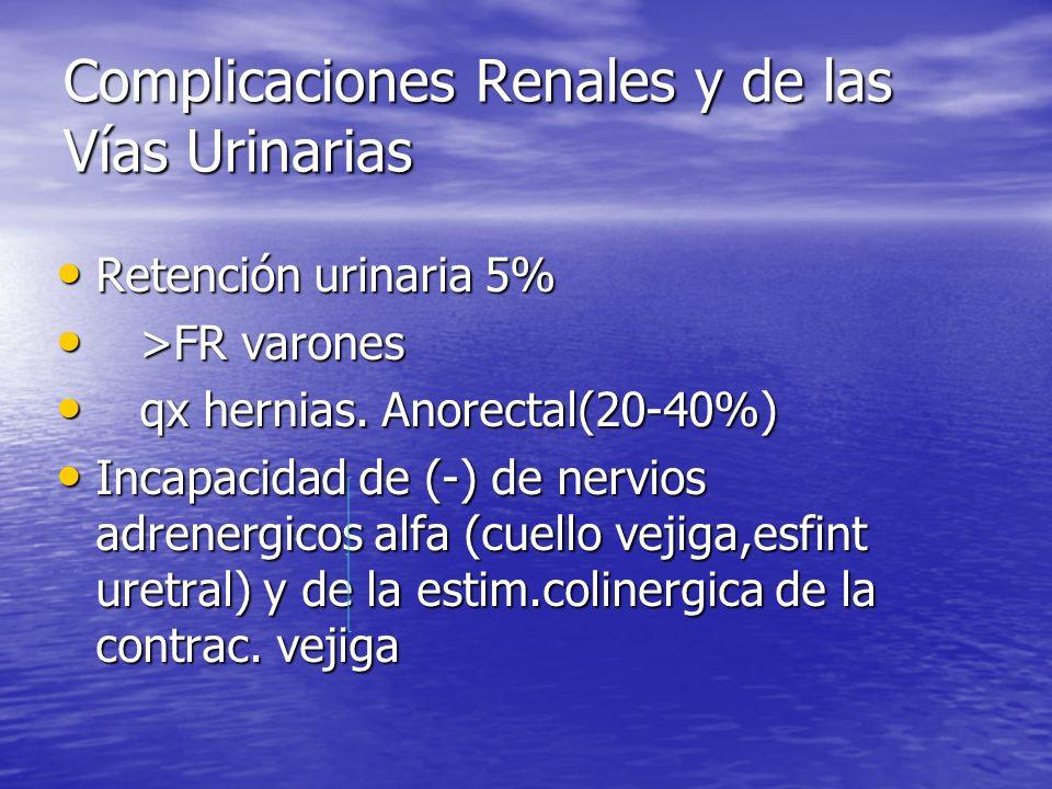 Complicaciones Renales y de las Vías Urinarias